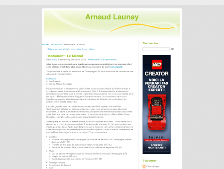 Restaurant: Le Mesnil - Arnaud Launay - Page...