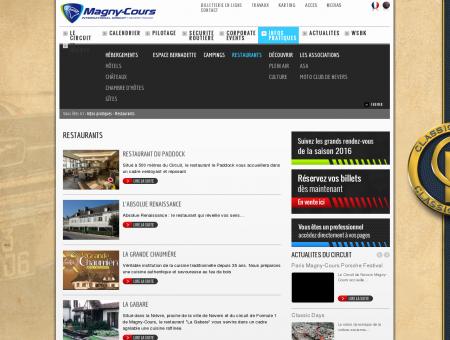 Restaurants - Circuit de Nevers Magny-Cours -...