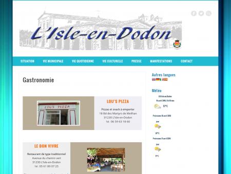 Gastronomie  L'ISLE-en-DODON