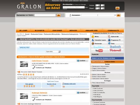 Restaurants L'Isle-en-Dodon guide...