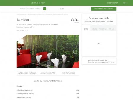 Restaurant Bamboo à Joinville-le-Pont -...