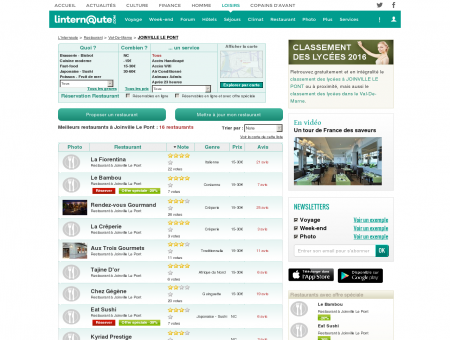 Restaurant Joinville Le Pont : Le guide des...