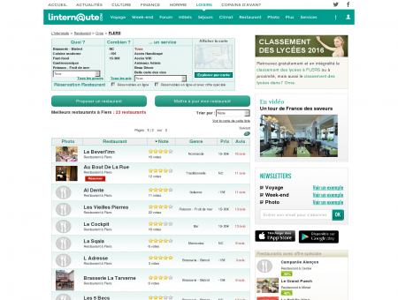 Restaurant Flers : Le guide des meilleurs...