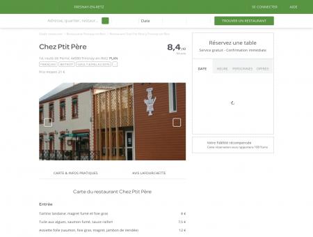 Restaurant Chez Ptit Père à Fresnay-en-Retz -...