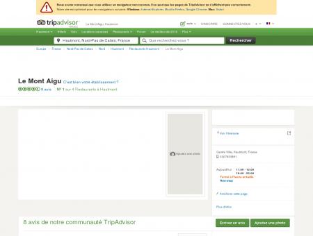 Le Mont Aigu, Hautmont - Restaurant Avis &...