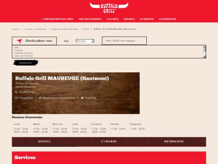 Restaurants Buffalo Grill MAUBEUGE (Hautmont)