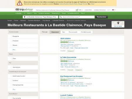 Les meilleurs restaurants à La Bastide...