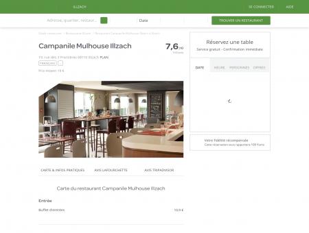 Restaurant Campanile Mulhouse Illzach à...