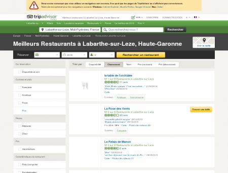 Les 5 meilleurs restaurants à Labarthe-sur...