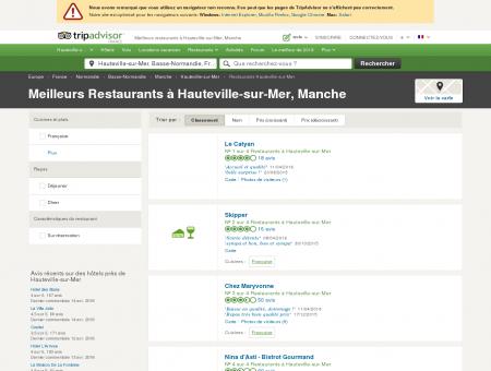 Les meilleurs restaurants à Hauteville-sur-Mer...