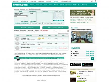 Restaurant Hauteville Lompnes : Le guide des...