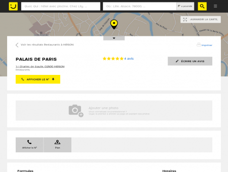 PALAIS DE PARIS Hirson (adresse, horaires,...