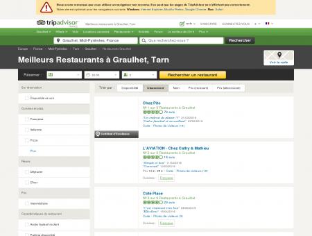 Les 10 meilleurs restaurants à Graulhet -...