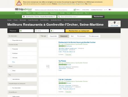 Les 5 meilleurs restaurants à Gonfreville...