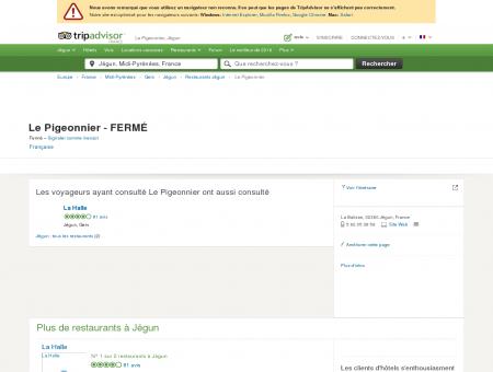 Le Pigeonnier, Jégun - Restaurant Avis &...