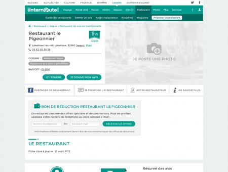 Restaurant le Pigeonnier, restaurant de cuisine ...