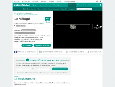 Le Village, restaurant de cuisine traditionnelle à ...