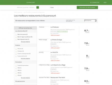 Restaurants Guyancourt - Meilleurs restaurants de Guyancourt.