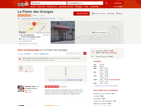 Le Plaisir des Granges - Spécialités culinaires -...