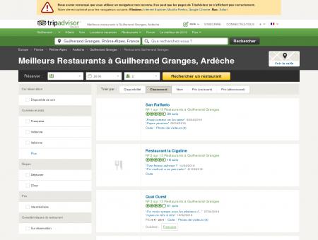 Les 10 meilleurs restaurants à Guilherand...