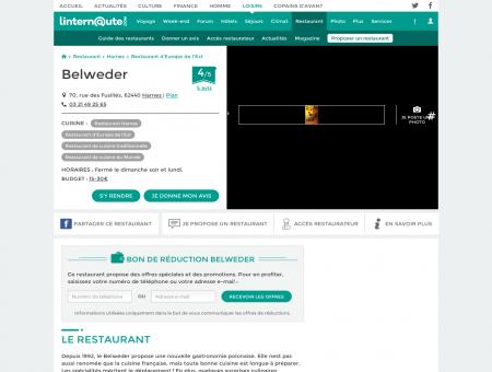 Belweder, restaurant de cuisine traditionnelle à...