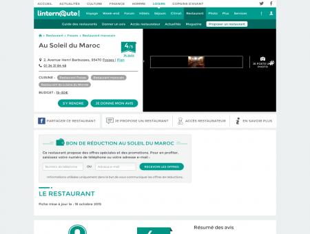 Au Soleil du Maroc, restaurant de cuisine du...