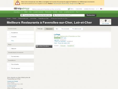 Les meilleurs restaurants à Faverolles-sur-Cher...