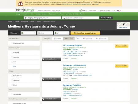 Les 10 meilleurs restaurants à Joigny -...