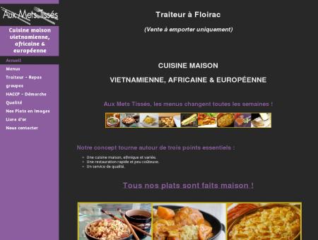 Aux Mets Tisses, Restaurant Traiteur à Floirac