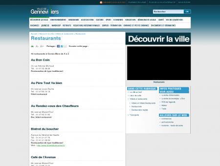 Restaurants |Gennevilliers : site officiel