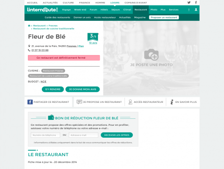 Fleur de Blé, restaurant de cuisine...