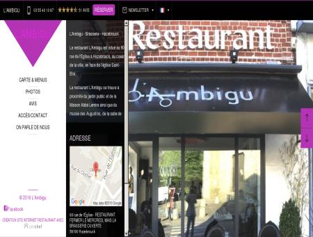 L'Ambigu - Hazebrouck|Avis, réservez en ligne