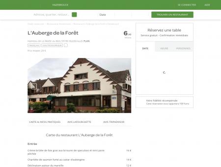 Restaurant L'Auberge de la Forêt à...