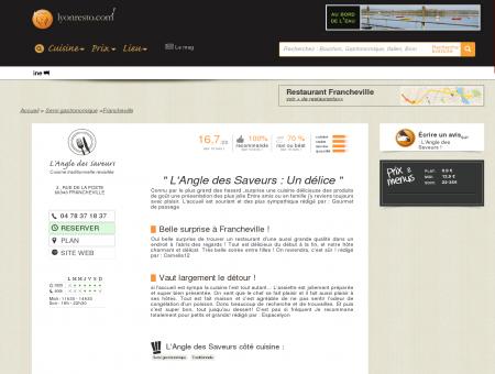 L'Angle des Saveurs - restaurant Francheville -...