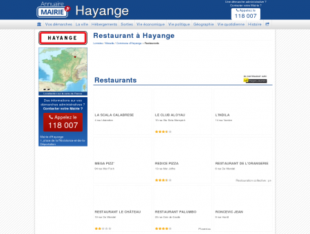 Restaurant Hayange, la Mairie d'Hayange, sa...