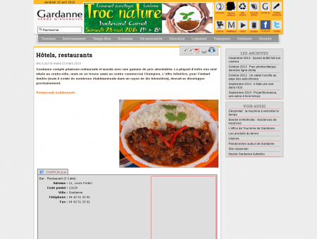 Hôtels, restaurants - Ville de Gardanne