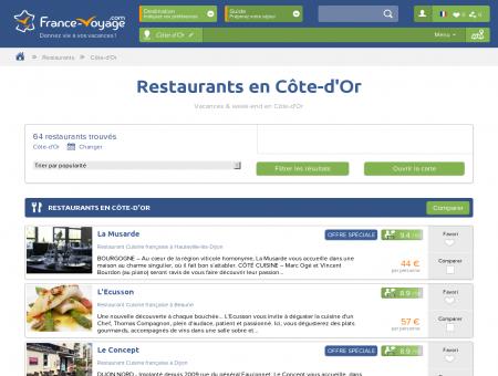 Restaurants en Côte-d'Or - Vacances & Week...