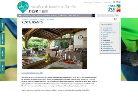 Restaurants | Côte-d'Or Tourisme, le meilleur...