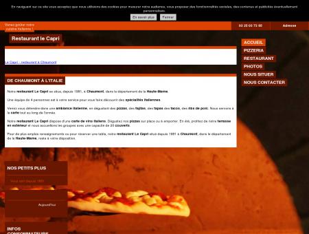 Pizzerias - Restaurant le Capri à Chaumont