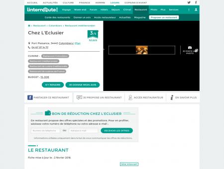 Chez L'Eclusier, restaurant de cuisine...