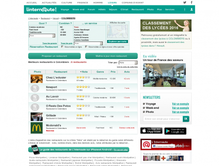 Restaurant Colombiers : Le guide des...