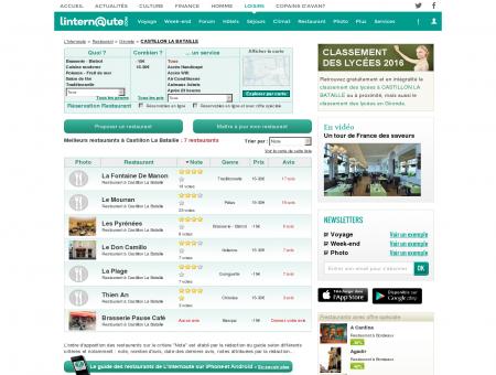 Restaurant Castillon La Bataille : Le guide des...