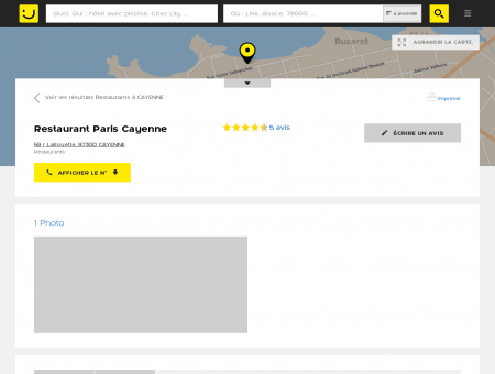 Restaurant Paris Cayenne Cayenne (adresse,...
