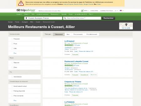 Les 10 meilleurs restaurants à Cusset -...
