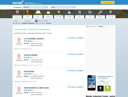 Restaurant Cusset : réservations, horaires,...
