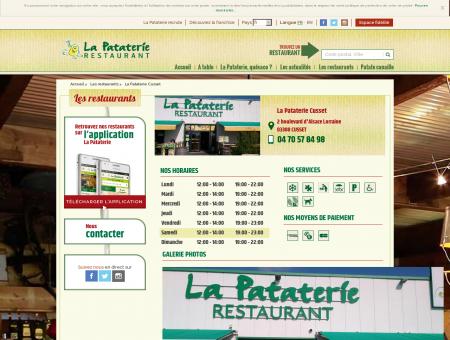 Restaurant La Pataterie Cusset