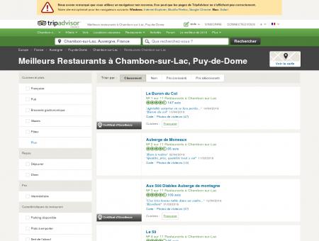 Les 10 meilleurs restaurants à Chambon-sur...