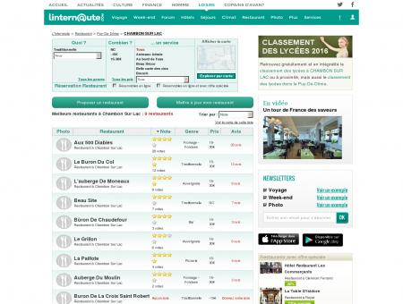 Restaurant Chambon Sur Lac : Le guide des...