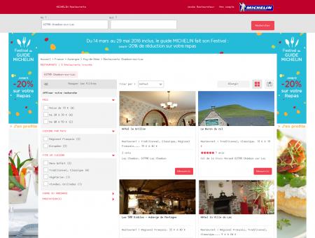 Restaurants 63790 Chambon-sur-Lac -...