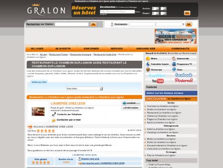 Restaurants Le Chambon-sur-Lignon guide...